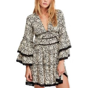 Free People Small Print Peasant Tunic or Mini